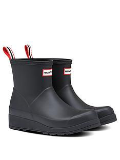 hunter-original-play-short-wellington-boot-black