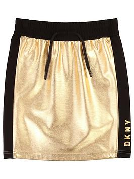 DKNY Dkny Girls Metallic Jersey Skirt Picture