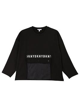 dkny-girls-pocket-front-sweat-black