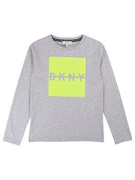 dkny-boys-long-sleeve-neon-logo-t-shirt-grey