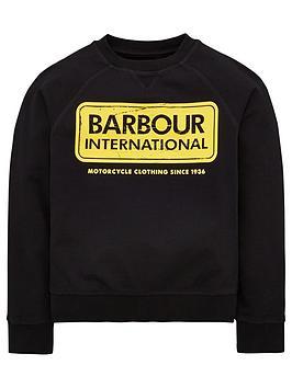barbour-international-boys-logo-crew-sweat-black