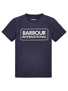 barbour-international-boys-essential-large-logo-t-shirt-navy