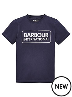 barbour-international-boys-essential-large-logo-t-shirt-navy
