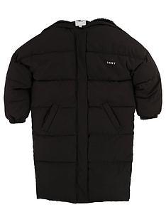 dkny-girls-longline-padded-coat-black