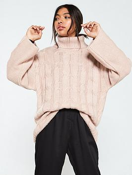 native-youth-the-kate-cable-knit-jumper-dusty-pink