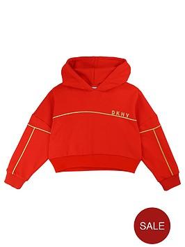 dkny-girls-cropped-boxy-logo-hoodie-red
