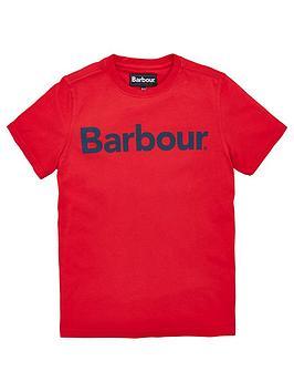 barbour-boys-logo-t-shirt-red