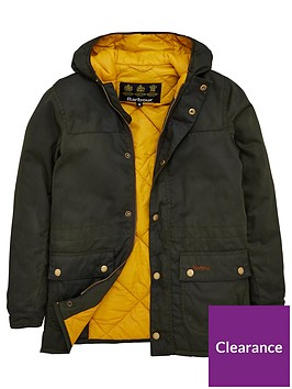 barbour-boys-durham-hooded-waxed-jacket-sage