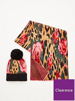 v-by-very-leopard-rose-hat-and-scarf-set