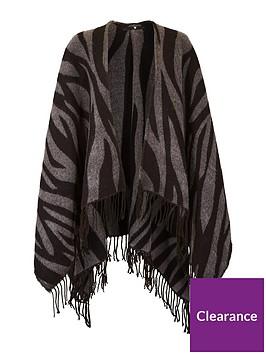 v-by-very-zebra-print-blanket-scarf-black