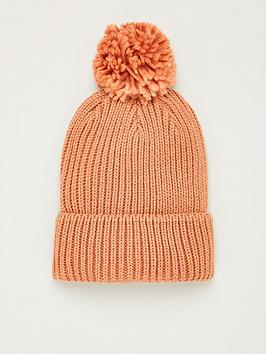 V by Very V By Very Knitted Pom Pom Beanie - Dusty Pink Picture