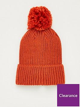 v-by-very-knitted-pom-pom-beanie-rust