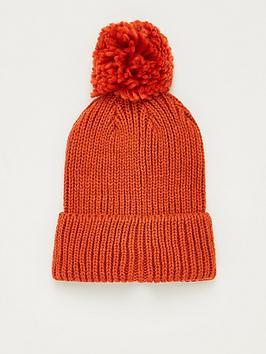 V by Very V By Very Knitted Pom Pom Beanie - Rust Picture
