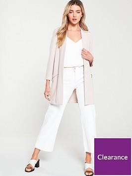 wallis-zip-pocket-longline-blazer-neutral