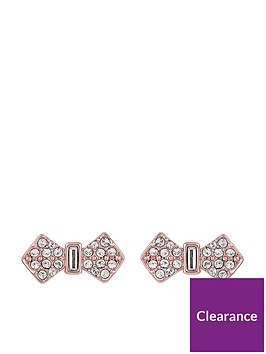 ted-baker-sersi-solitaire-pave-bow-earrings-rose-gold