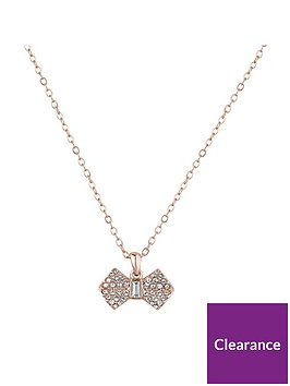 ted-baker-sanra-solitaire-pave-bow-pendant-necklacenbsp--rose-gold