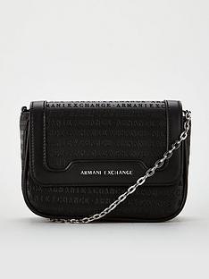 armani-exchange-embossed-cross-body-bag-black