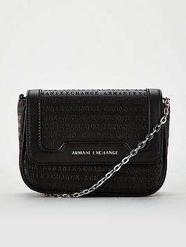 armani-exchange-embossed-cross-body-bag-black