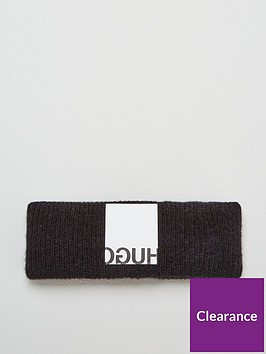 hugo-wool-mix-knitted-headband-black
