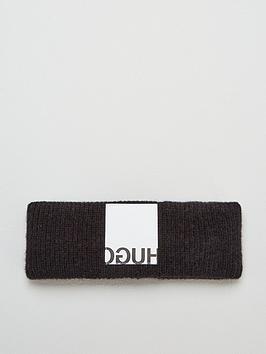 HUGO Hugo Wool Mix Knitted Headband - Black Picture