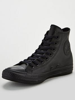 Converse Converse Chuck Taylor All Star Leather Hi - Black Picture