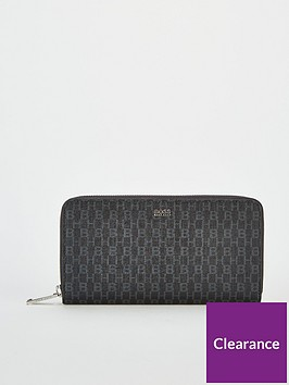boss-casual-taylor-embossed-zip-around-purse-black
