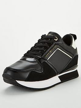 tommy-hilfiger-leather-wedge-trainers-black