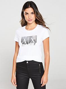 armani-exchange-metallic-t-shirt-white