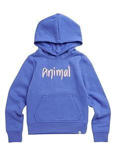animal-girls-rachelle-logo-hoodie-blue-marl