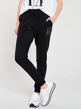 Armani Exchange   Logo Trouser - Black