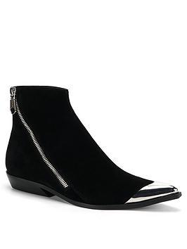 Calvin Klein Jeans Calvin Klein Jeans Anneke Metal Tip Zip Boots - Black Picture