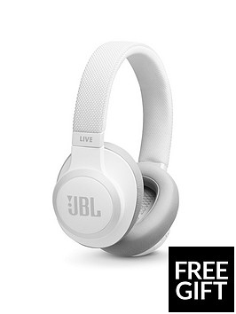 9002cb535d3 JBL Live 650BTNC Bluetooth Wireless Over-Ear Headphones (White) with Active  Noise-Cancellation & Voice Assistant + Limited FREE Sports Headphones Offer  ...