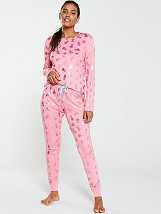 chelsea-peers-foil-pineapple-long-pj-set--nbsppink