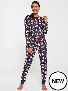 chelsea-peers-christmas-gingerbread-man-long-pj-set-navy