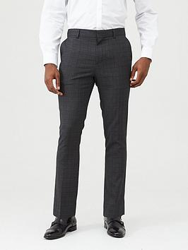 V by Very V By Very Checked Formal Suit Trousers - Grey Picture