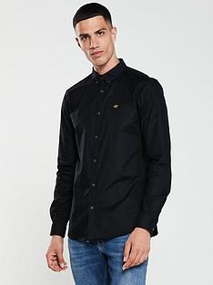 river-island-long-sleeve-black-oxford-shirt