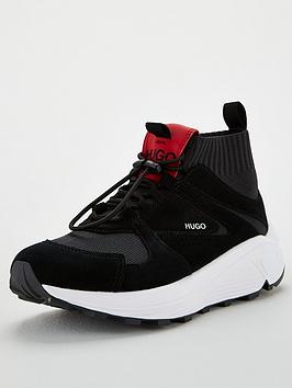 HUGO Hugo Horizon Knitted Runner - Black White Picture
