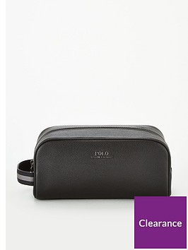 polo-ralph-lauren-pebbled-leather-wash-bag-black