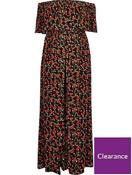 ri-plus-floral-printed-jumpsuit-black