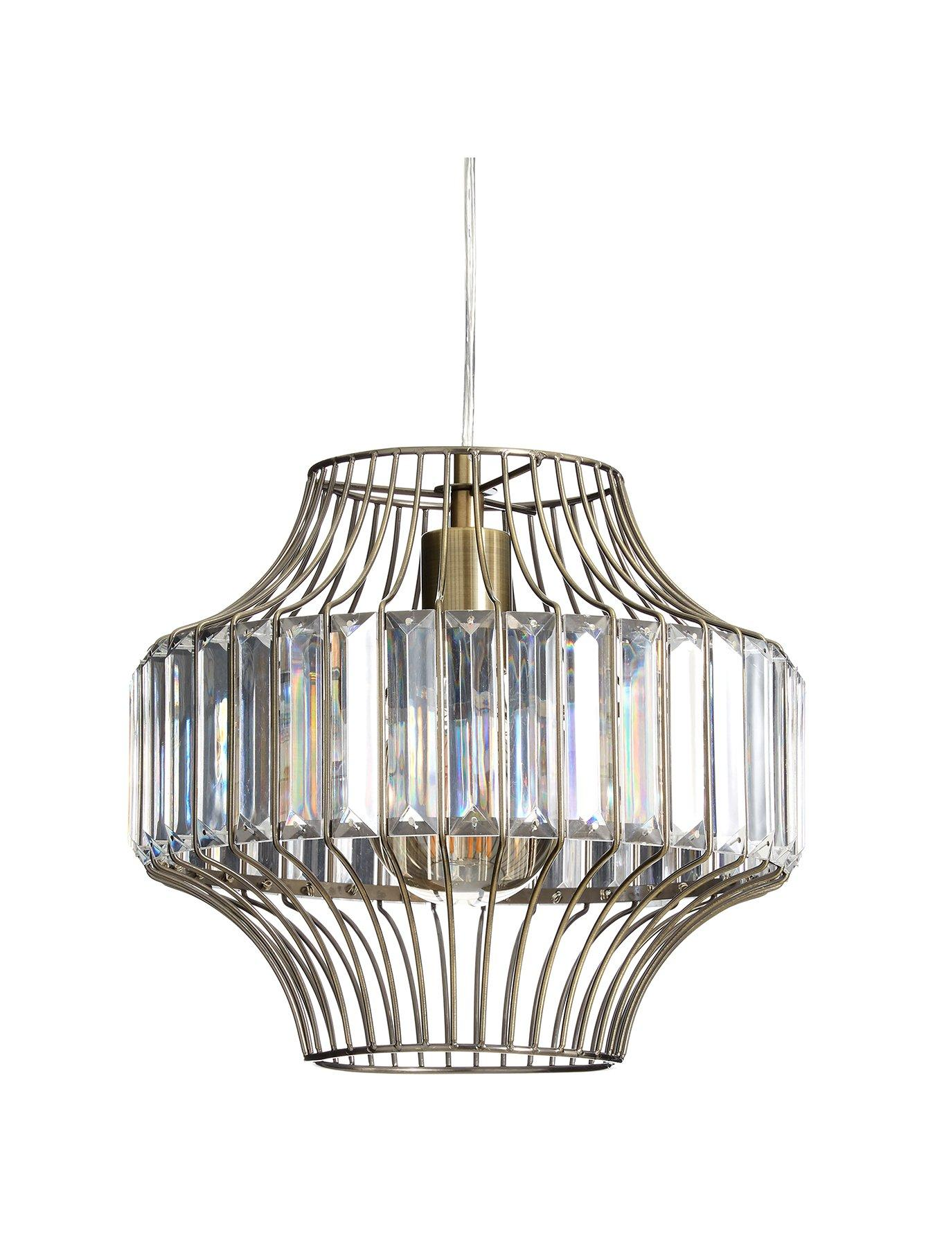 CO Z Traditional Drum Chandelier Lighting Bronze, 18'' Modern Farmhouse Pendant Light with White Fabric Shade, 6 Light Ceiling Light Fixture for