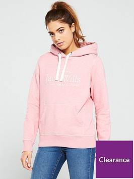jack-wills-hunston-embroidered-graphic-hoodienbsp--pink-marl