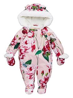 baker-by-ted-baker-baby-girls-floral-print-snowsuit-pink