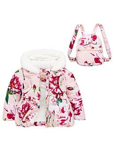 baker-by-ted-baker-girls-floral-padded-coat-and-backpack-pink