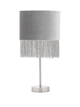 Very Roscoe Flat Velvet Tassel Table Lamp Picture