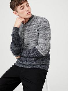 v-by-very-spaced-yarn-crew-neck-jumper-blackgrey