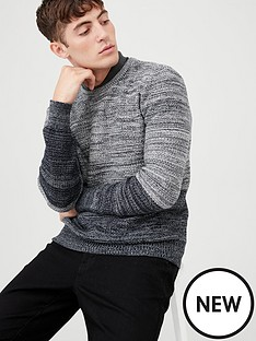 v-by-very-spaced-yarn-crew-neck-jumper-blackgrey