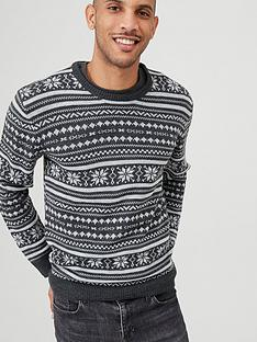 v-by-very-fairisle-crew-jumper-monochrome