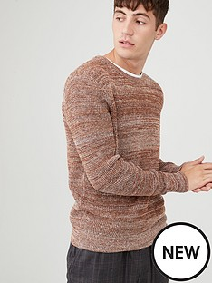 v-by-very-twisted-yarn-crew-jumper-brown