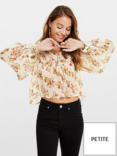 miss-selfridge-petitenbspbib-smock-long-sleeve-floral-top-pale-yellow
