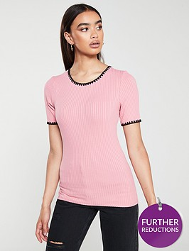 v-by-very-embroidered-ribbed-top-pink